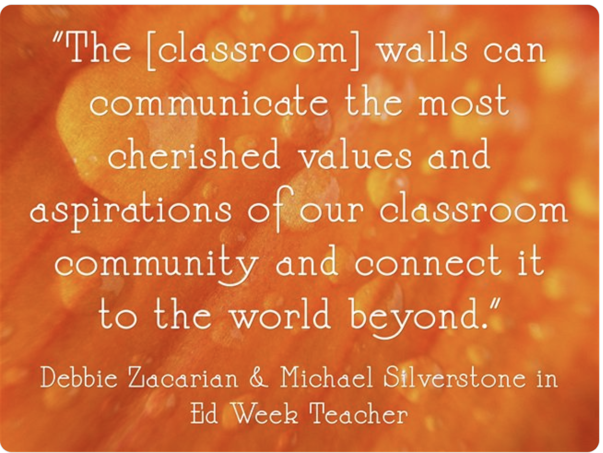 How can classroom walls be used most effectively?